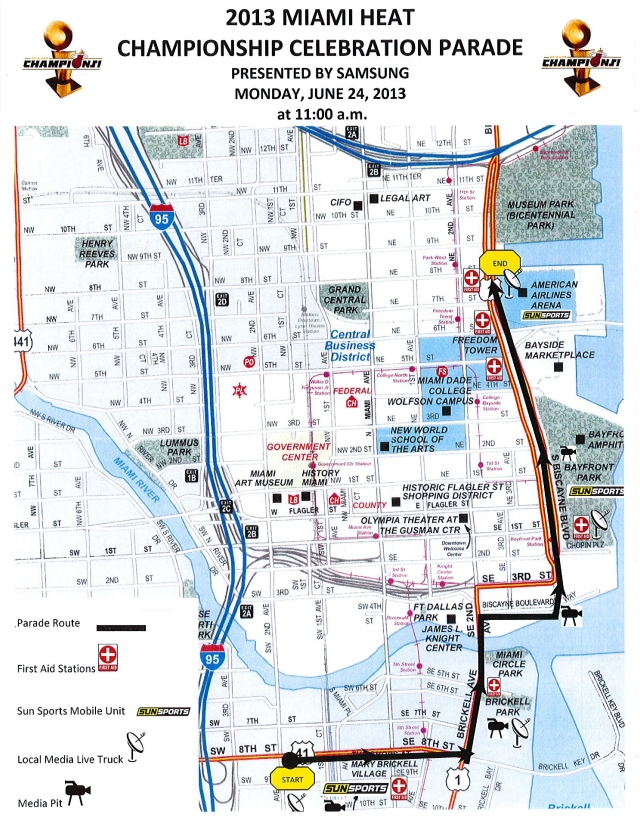 2013-06-24-Miami-Heat-Parade-Route